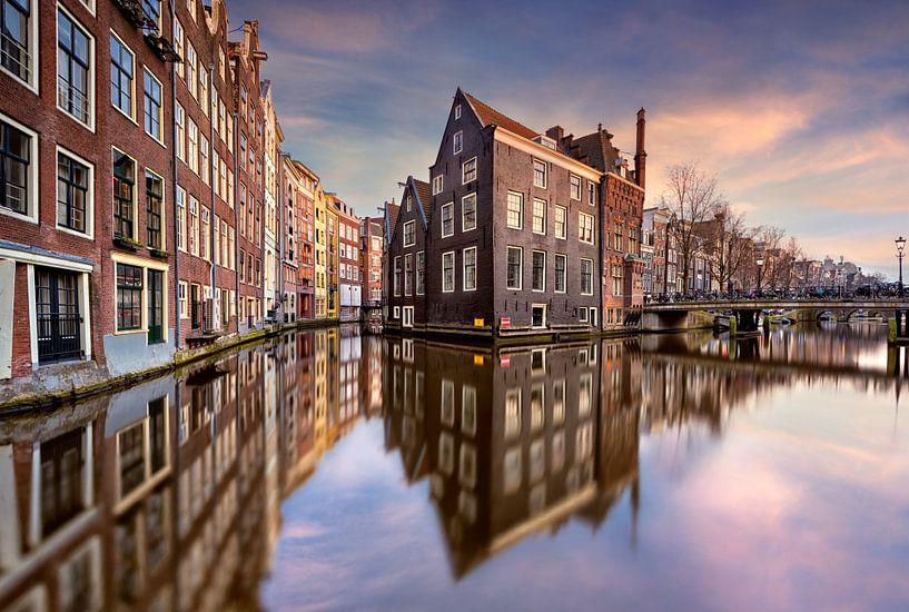 Coucher de soleil sur Amsterdam van Arnaud Bertrande