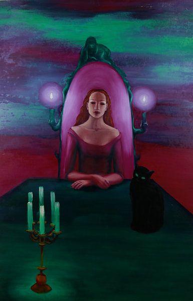 priesteres met kat van Marije du Bateau