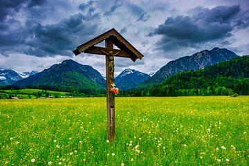 Feldkreuz bei Oberstdorf von Walter G. Allgöwer