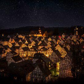 Kerstdorp in Freudenberg, Duitsland van Dennis Donders