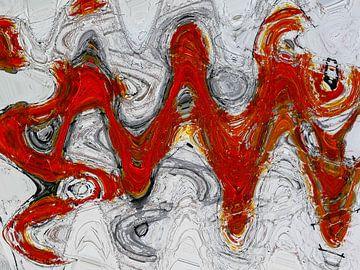Rode golven van Gabi Hampe