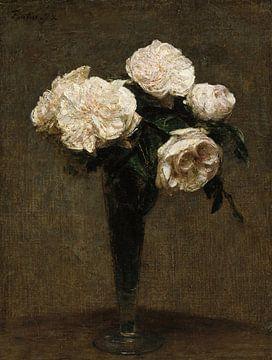 Roses dans un vase, Henri Fantin-Latour