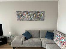 Klantfoto: Sparkling People van Atelier Paint-Ing, op aluminium