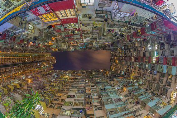 Hong Kong by Night - Quarry Bay Buildings - 3