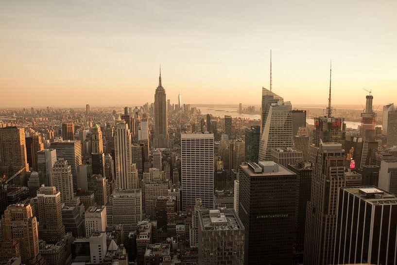 New York | Fotografie | Sonnenuntergang | Kunstdruck von Mascha Boot