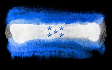 Symbolische nationale vlag van Honduras van Achim Prill