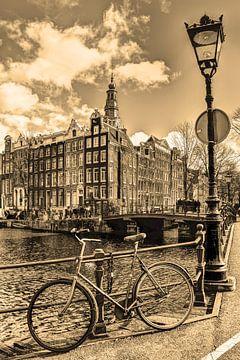 Südliche Kirche Amsterdam Niederlande Sepia von Hendrik-Jan Kornelis
