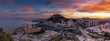 Alicante Panorama im Sonnenuntergang von Frank Herrmann