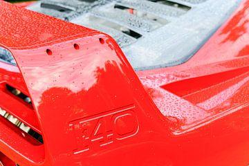 Ferrari F40 Supersportwagen der 80er Jahre Heckspoiler von Sjoerd van der Wal