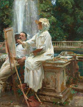 Der Brunnen, Villa Torlonia, Frascati, Italien, John Singer Sargent - 1907