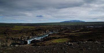 Waterval IJsland Aldeyjarfoss van Willem van den Berge