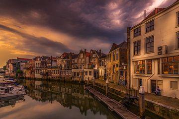Zon onder in Dordrecht von Rob Bout