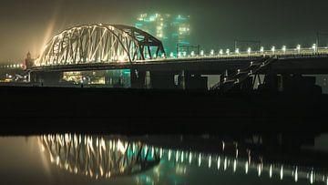 Spoorbrug bij Nijmegen van Jeffrey Van Zandbeek