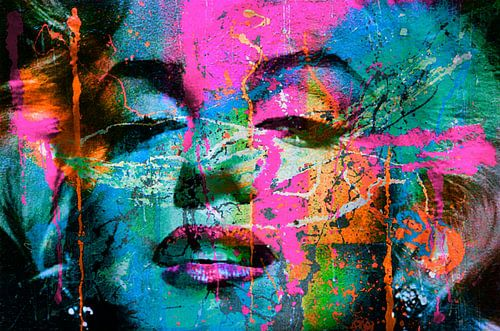 Mariyln Monroe Collage Pop Art PUR