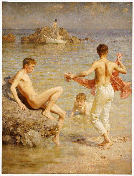 Glänzende Gewässer, Henry Scott Tuke von Bridgeman Masters