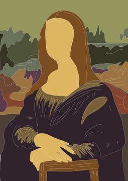 Mona Lisa - Leonardo da Vinci van Debora Van Eijk