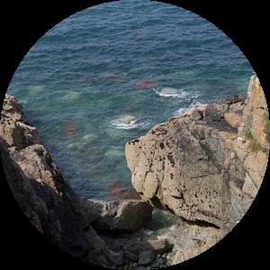 Kliffen in Bretagne van Heike Klein