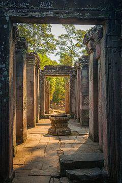Ein früher Morgen in Angkor Wat, Kambodscha von Henk Meijer Photography