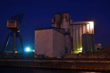 Industrie in de nacht van Jaimy Buunk