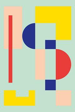 Minimalistische geometrie nr. 5 van Pascal Deckarm