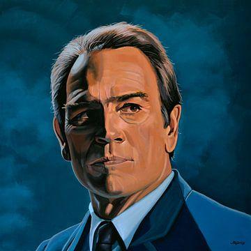 Tommy Lee Jones Schilderij van Paul Meijering