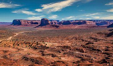 Monument Valley, Colorado plateau, Noord Amerika van Rietje Bulthuis