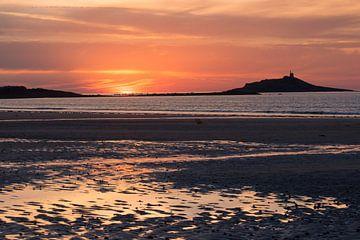 Zonsondergang in Bretagne, Frankrijk