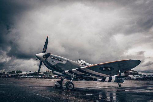 Spitfire in the rain
