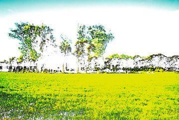 Gestoord Landschap #003 van Peter Baak