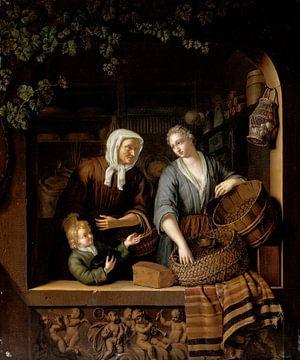 Der Lebensmittelladen, Frans van Mieris