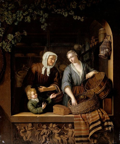Der Lebensmittelladen, Frans van Mieris von Meesterlijcke Meesters