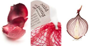 Rode ui, mild en pittig (drieluik) van