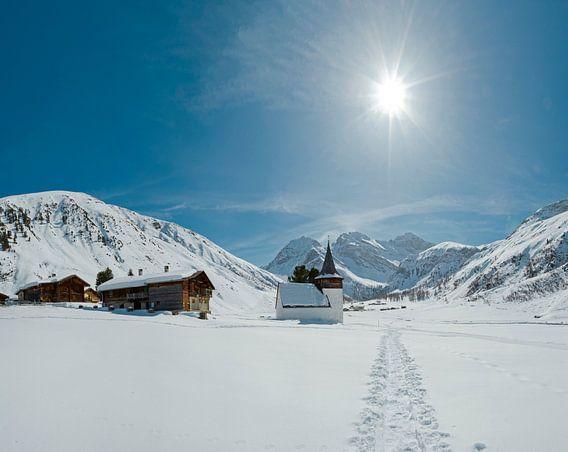 Sertigtal, Davos, Graubünden, Zwitserland van Rene van der Meer