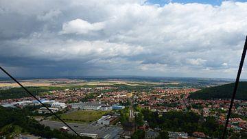 Het uitzicht vanaf een kabelbaan van Wilbert Van Veldhuizen