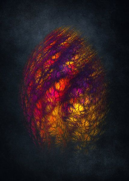 Fraktale abstrakte Kunst Drachenei #Fraktale #Abstrakt von JBJart Justyna Jaszke