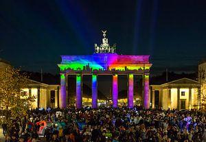 Berlijn Skyline aan de Brandenburger Tor