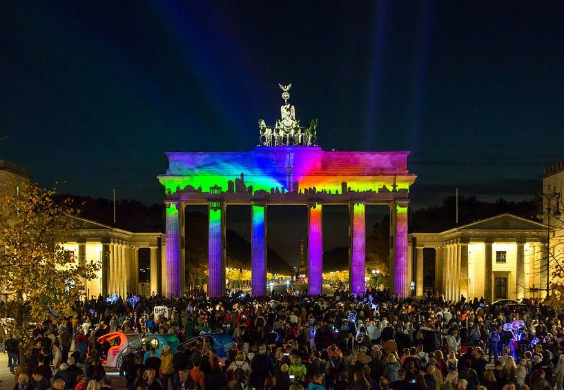 Berlijn Skyline aan de Brandenburger Tor van Frank Herrmann