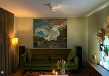 Klantfoto: De bedreigde zwaan, Jan Asselijn, op canvas