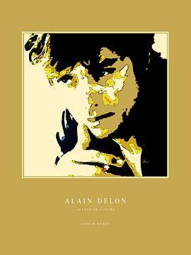 Alain Delon Porträt von Dirk H. Wendt
