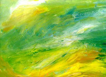 Grün Gelb Weiss von Claudia Gründler