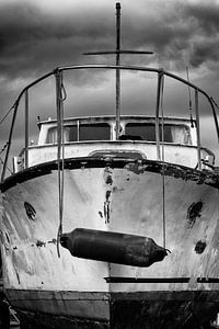 Boot op scheepswerf