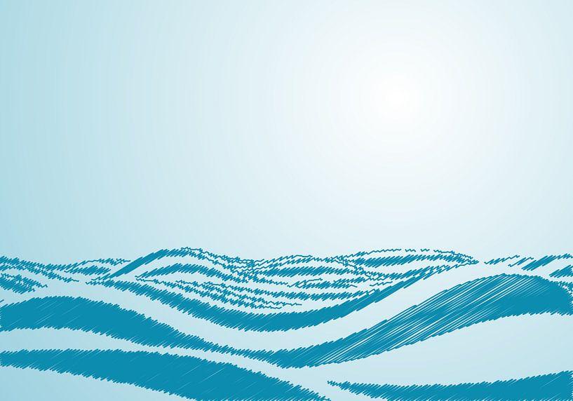 Zeegolven in de oceaan. van Mark Rademaker