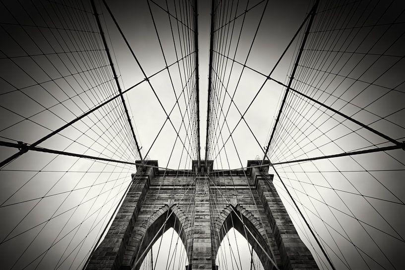 New York City - Brooklyn Bridge van Alexander Voss