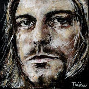 Portret Van Kurt Cobain. van Therese Brals