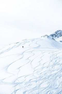 Mann im Schnee von Vere Maagdenberg