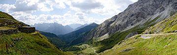 Panoramisch uitzicht in Val Visdende van Leopold Brix