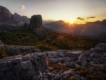 Zonsopgang in de Dolomieten van Thomas Weber