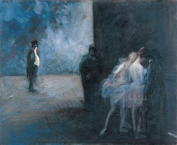 Hinter der Bühne - Sinfonie in Blau, Jean-Louis Forain