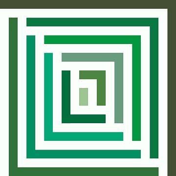 Abstrakt in Grüntönen und Weiß von Maurice Dawson