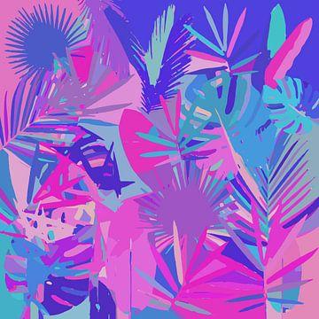 Tropische Blätter Abstrakt van Gabriella David